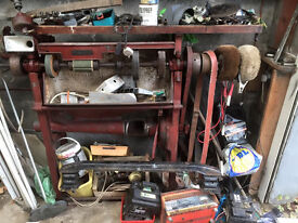 OLD SHOW BUFFING MACHINE VERY BIG CAST IRON VERY OLD BARGAIN £150