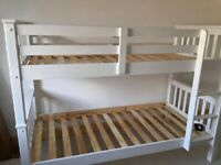 New Single Wooden Bunk Bed With Opt Mattresses Order Now cash on delivery