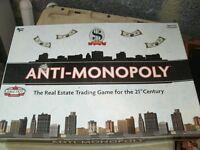 Anti- Monopoly Board Game
