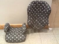 Lightweight 2 piece highback booster car seat for 15kg upto 36kgchild(4yrs to 12yrs)-washed& clean
