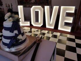 4ft high led lightup love sign letters
