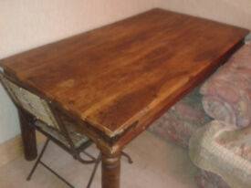 Good solid table , need space . slightly damaged on corner . Buyer collects . Open to offers.