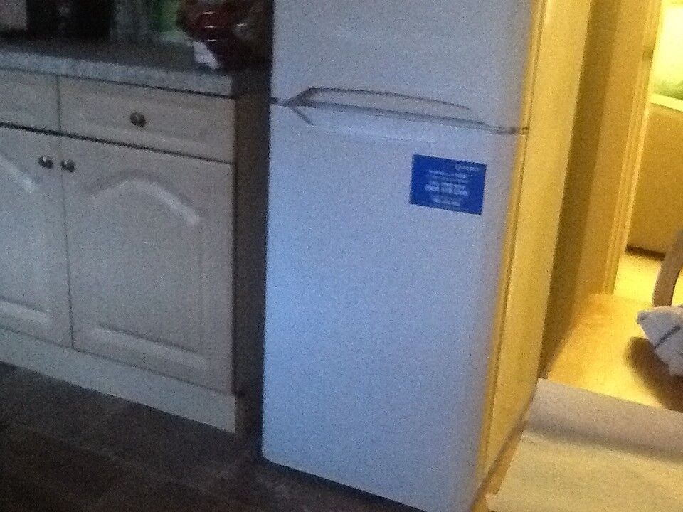 Stand alone fridge freezer in perfect working order and excellent condition.