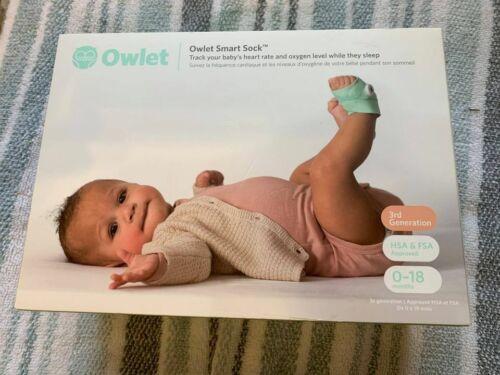 Owlet Smart Sock 3rd Gen Voice & Breathing Baby Monitor - Brand New
