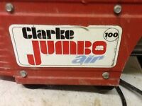 Clarke jumbo mini air compressor.