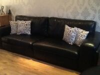 Black leather suite (REDUCED PRICE)
