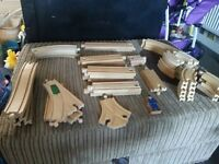 Wooden train tack and accsessories