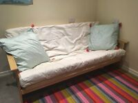 kyoto 3 seater wooden futon sofa bed, frame immaculate. Hardly used, smoke free home.