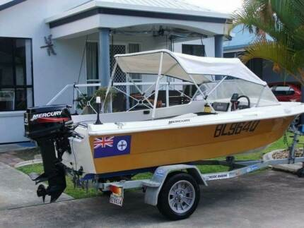 4 meter run about.30 elect start like new merc and trailer Maroochydore Maroochydore Area Preview