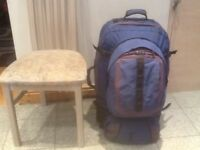 Superb quality and condition ALS(Air ,Land and Sea)travel rucksack 65 litre+15 litre daypack+bumbag