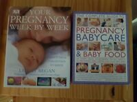 Pregnancy and baby books, 50p each