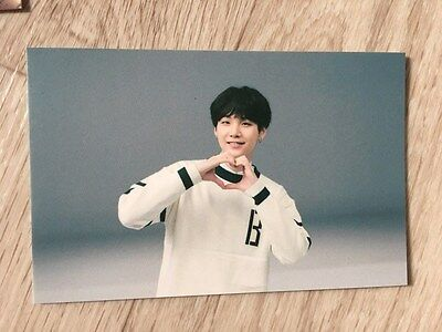 BTS 3rd Muster ARMY Fan meeting Special Official small Heart Photo card - Suga