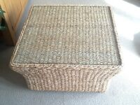 Rattan Glass Topped Coffee / Occasional Table
