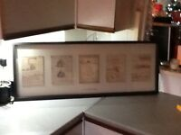 Leonardo da Vinci 5 drawings in a frame from ikea £22