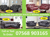 SOFA HOT OFFER BRAND NEW LEATHER RECLINER FAST DELIVERY 569