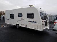 Bailey Pegasus 554 4 berth caravan FIXED ISLAND BED, MOTOR MOVER, VGC