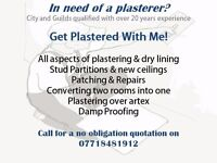Plastering & Damp Proofing services