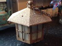 Antique lantern lamp