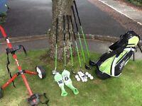 Junior starter set of John Letter Golf clubs. Suit boy or girl age 5-9