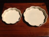 Vintage Denby Bakewell - 2x flan dishes