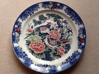 Two large decorative plates