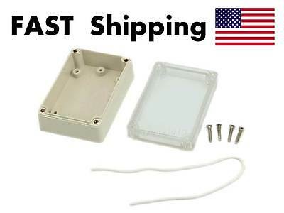 Waterproof Cover Clear Plastic Electronic Project Box Enclosure Case - Fast Ship