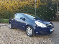 2007 Vauxhall Corsa 1.2 i 16v Club 3dr blue, Low millage