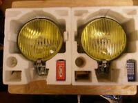 Pair Of 80's Raydyot H3 Halogen Amber Fog Lights