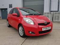 2009 TOYOTA YARIS 1.33 SR 6 SPEED MANUAL RED NEW SHAPE 1 OWNER 12 MONTHS MOT START/STOP IMMACULATE