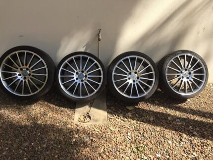 """Genuine amg Mercedes 19"""" wheels. C63 2012. Staggered St Lucia Brisbane South West Preview"""