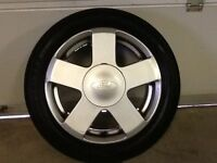 15INCH 4/108 GENUINE FORD ZETEC ALLOY WHEELS WITH TYRES FIT MOST MODELS GOOD CONDITION