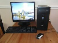 "HP 280 G1 Desktop PC with 19"" Monitor & Microsoft Office."