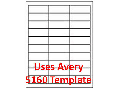 "# 5160 Compatible  Laser Labels3,000 1"" x 2 5/8"" Mailing Address 1pk  on Rummage"