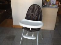Highchair with detachable tray/table-2of the legs have a little paint splashes hence £5