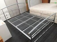 4ft 6 Double chrome bed frame Copley Mill Low Cost Moves 2nd Hand Furniture STALYBRIDGE SK15 3DN
