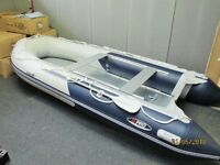 New 3.8m inflatable boat dinghy tender rib dive fishing dingy aluminium deck