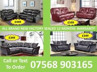 SOFA HOT OFFER BRAND NEW LEATHER RECLINER FAST DELIVERY 6