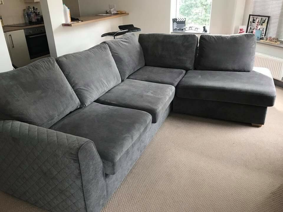 DFS Grey Corner Sofa