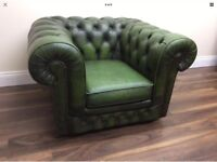 Vintage Green Tub Chesterfield