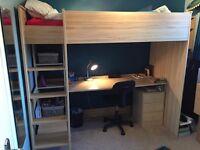 Cabin Bed with desk (Kurt Highsleeper)