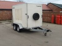 Brenderup box trailer. Twin axle. 8x5x6. Fully braked.