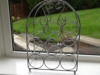 Excellent Wine Rack Holds 6 Bottles Hardly Used