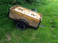 Wooden trailer (comes with timber)