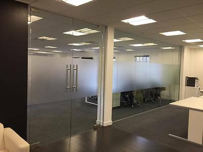 10mm Toughened Glass Office Partitioning - Glass panels.