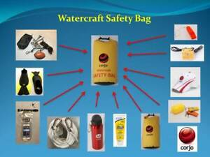 Marine Watercraft Safety Bag Kit For Jetski Boat Kayak Canoe