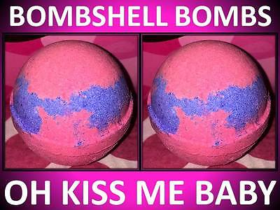2 PACK GIFT SET! LARGE 4.5 OZ BOMBSHELL BATH BOMB FIZZY HOT PINK OH KISS ME (2 Pack Gift Set)