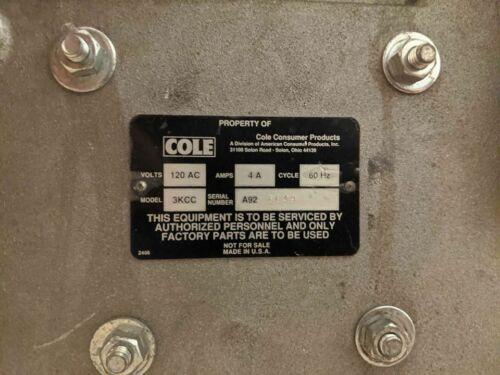 Cole 3KCC key cutting machine copy duplicator house copier locksmith