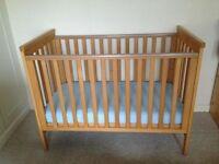 Mamas and Papas wooden cot bed in good condition