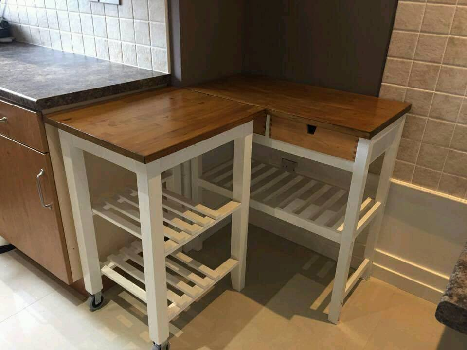 Solid wooden kitchen tablesin Coatbridge, North LanarkshireGumtree - Solid wooden kitchen tables in white and dark oak. To sell together or separately