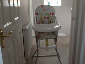 High Chair brought from John Lewis for our Grandchildren who no longer need it.